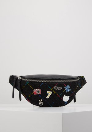 STUDIO BUMBAG - Sac banane - black/multi
