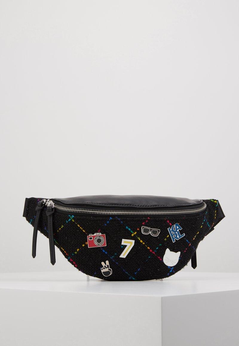 KARL LAGERFELD - STUDIO BUMBAG - Bum bag - black/multi