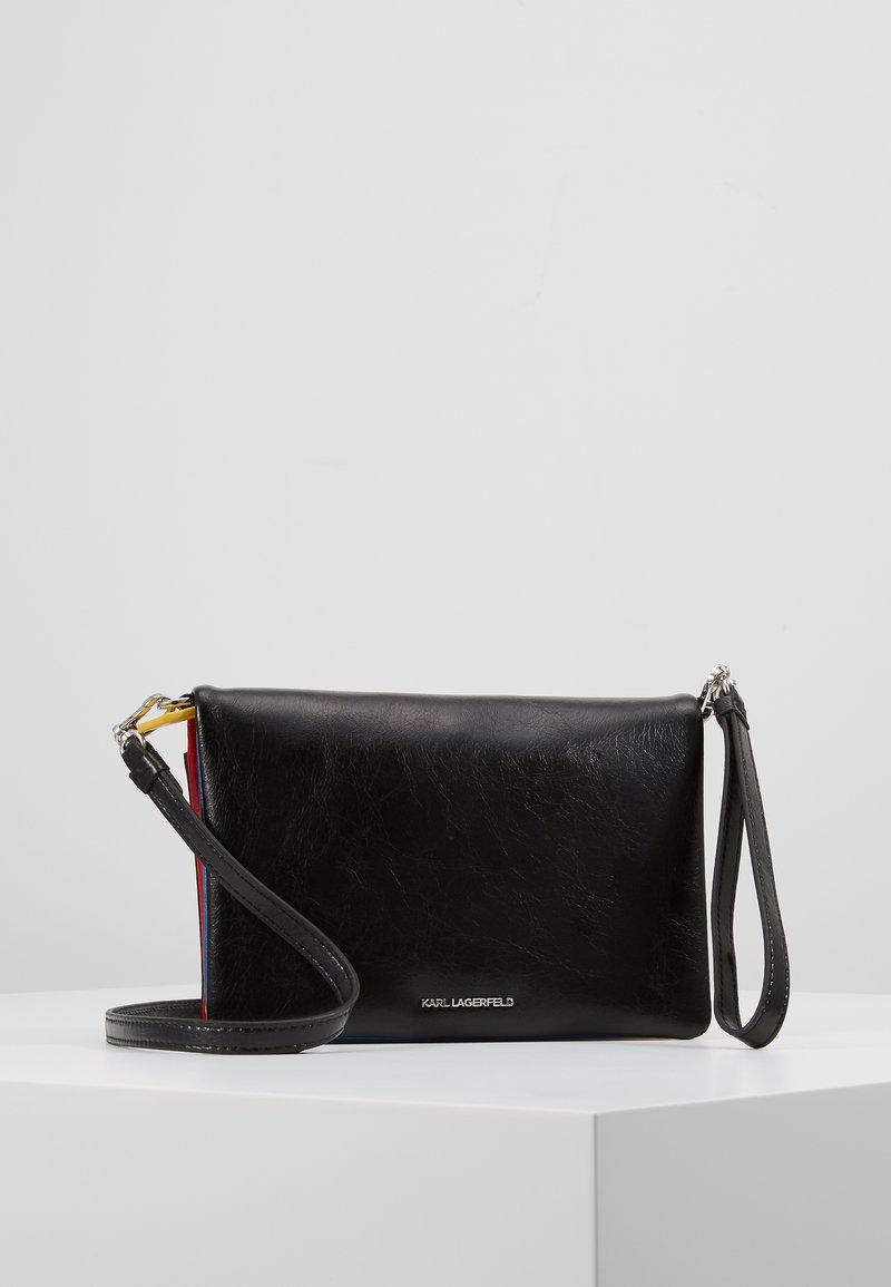 KARL LAGERFELD - BAUHAUS SHOULDER POUCH - Across body bag - black