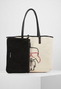 KARL LAGERFELD - IKONIK - Tote bag - natural/black - 5