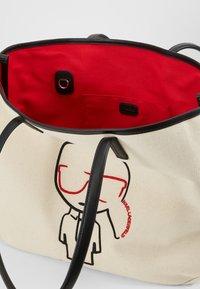 KARL LAGERFELD - IKONIK - Tote bag - natural/black - 4