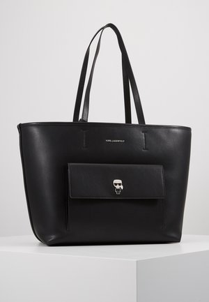 IKONIK METAL PIN TOTE SET - Handtasche - black