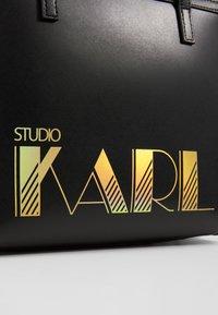 KARL LAGERFELD - SMALL TOTE - Handbag - black - 6