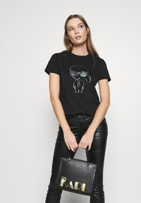 KARL LAGERFELD - SMALL TOTE - Handbag - black - 1