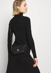 KARL LAGERFELD - IKONIK METAL PIN CAMERA BAG - Across body bag - black - 1