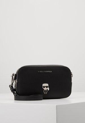 IKONIK METAL PIN CAMERA BAG - Torba na ramię - black