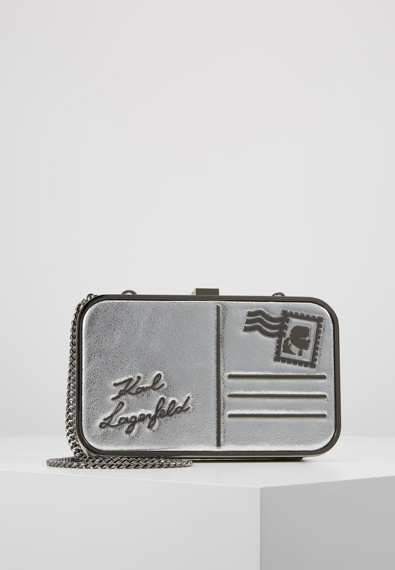 KARL LAGERFELD - POSTCARD MINAUDIERE - Pochette - silver