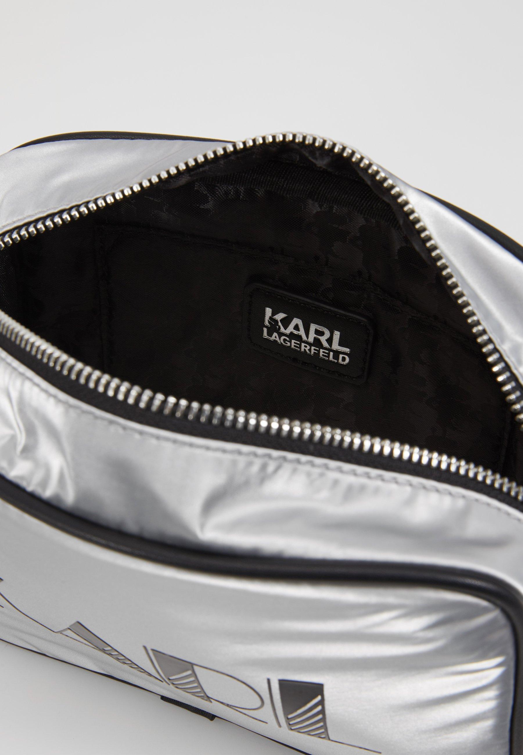 KARL LAGERFELD CROSSBODY - Axelremsväska - silver