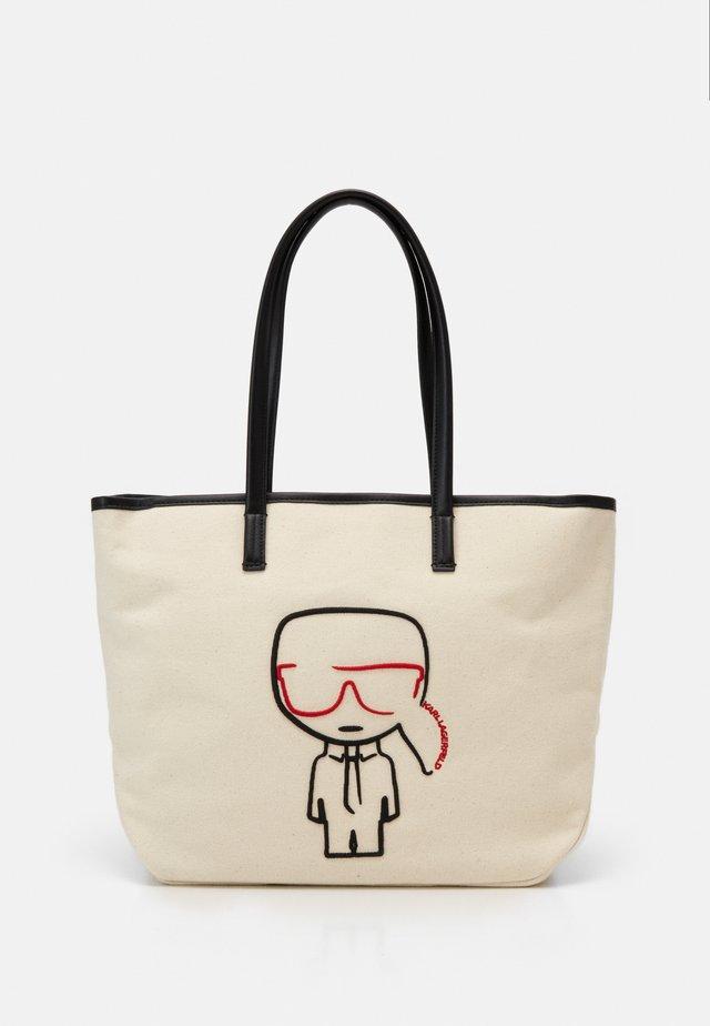 IKONIK OUTLINE - Tote bag - natural/black