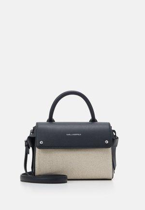 IKON MINI TOP HANDLE - Handbag - natural/black
