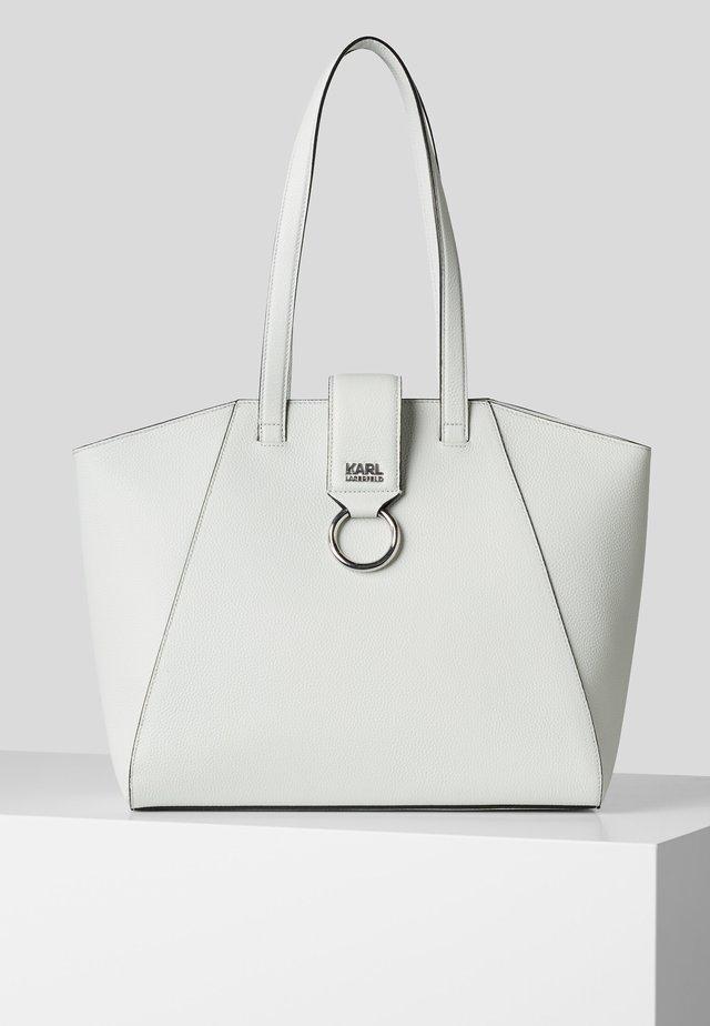 PEBBLE - Shopping bag - white