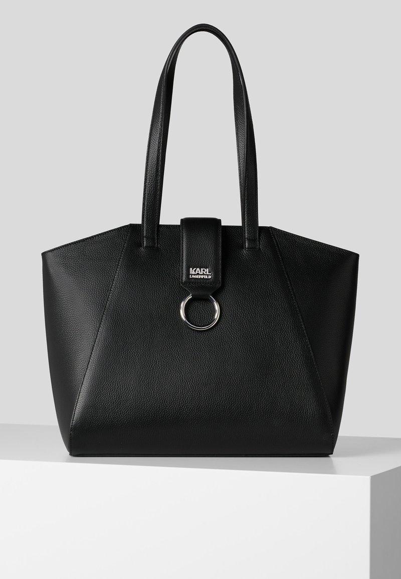 KARL LAGERFELD - PEBBLE - Shopping bag - black
