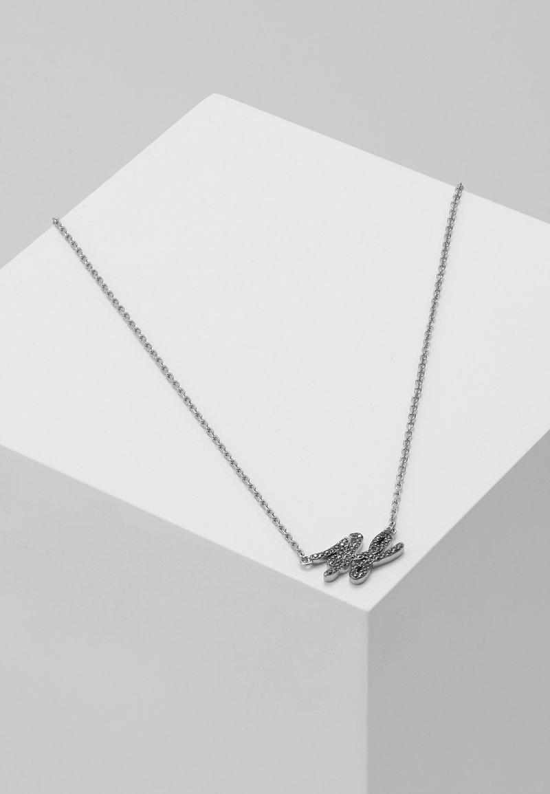 KARL LAGERFELD - TINY SCRIPT LOGO PENDANT  - Náhrdelník - silver-coloured