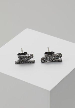 SCRIPT LOGO  - Earrings - gunmetal