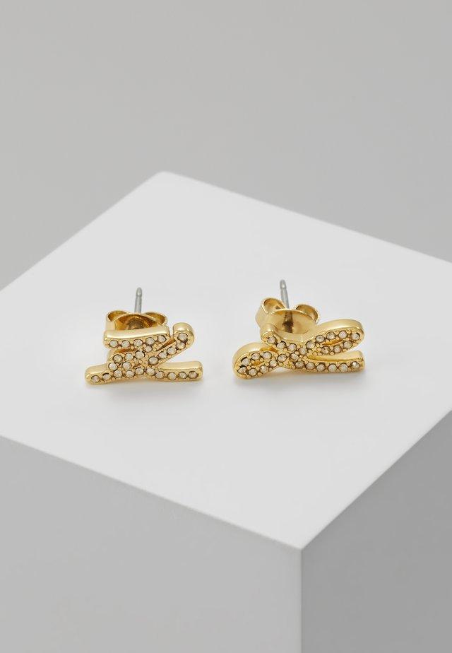 SCRIPT LOGO  - Boucles d'oreilles - gold-coloured