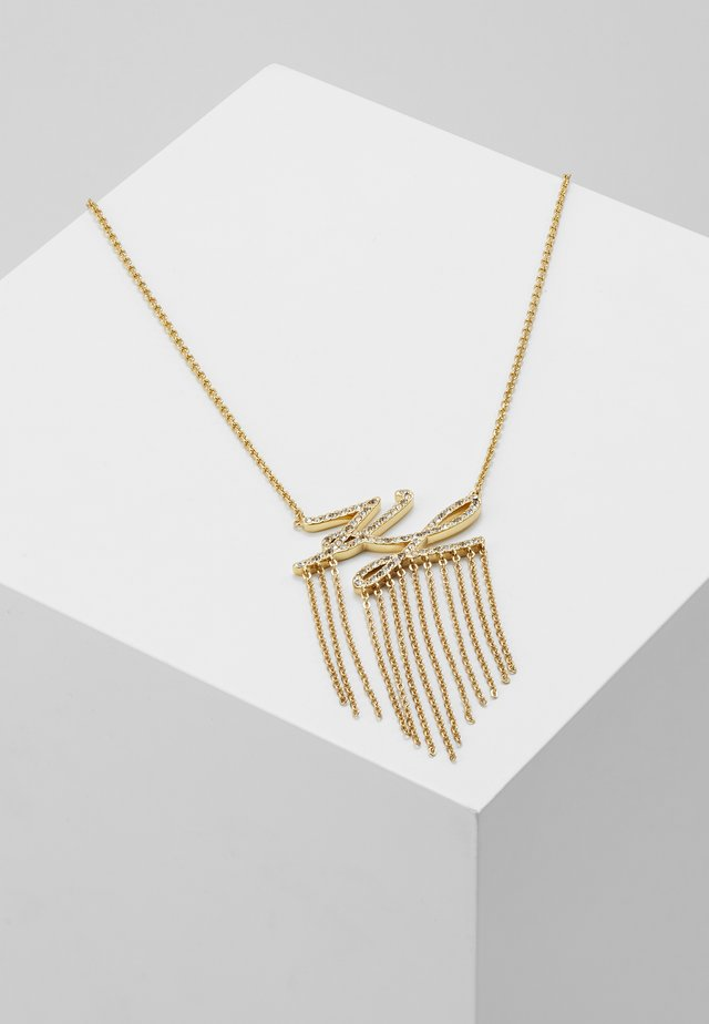 SCRIPT LOGO FRINGE PENDANT - Necklace - gold-coloured