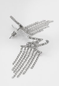 KARL LAGERFELD - SCRIPT LOGO FRINGE - Örhänge - silver-coloured/gun metal - 5