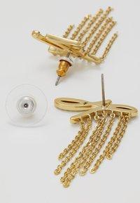 KARL LAGERFELD - SCRIPT LOGO FRINGE - Náušnice - gold-coloured - 2