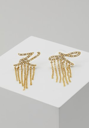 SCRIPT LOGO FRINGE - Boucles d'oreilles - gold-coloured