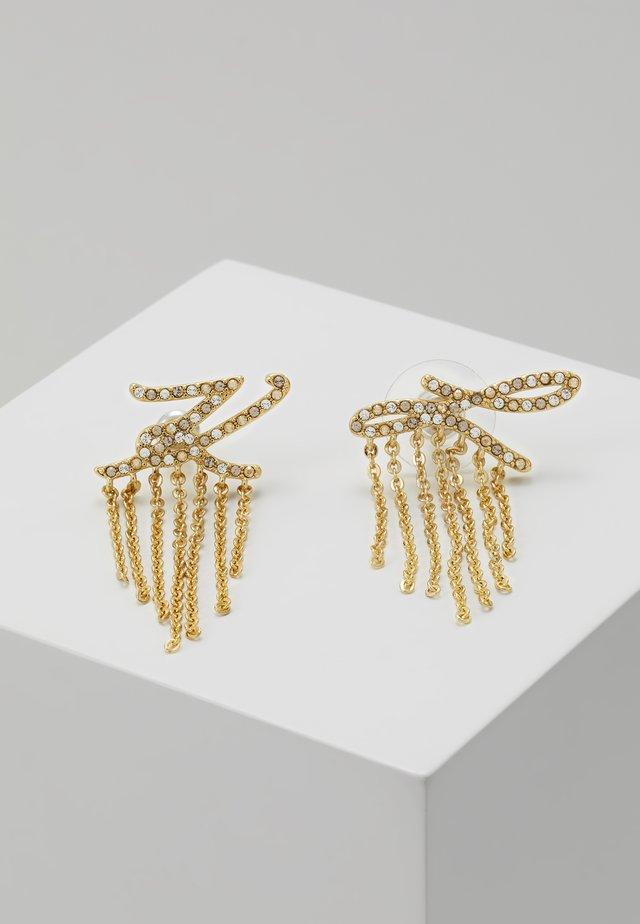 SCRIPT LOGO FRINGE - Earrings - gold-coloured