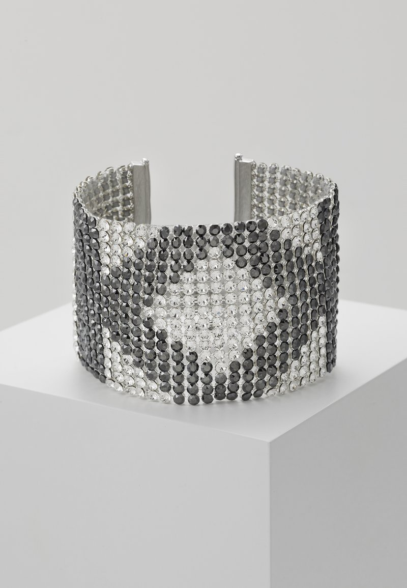 KARL LAGERFELD - CRYSTAL MESH DOUBLE  - Armband - silver-colored