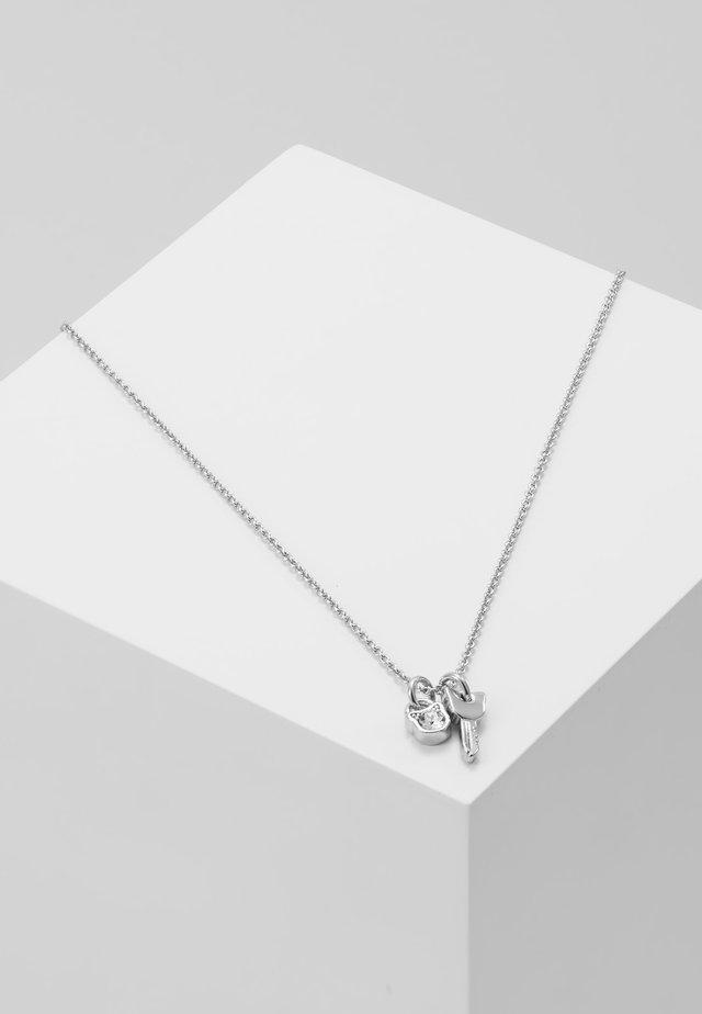 MINI CHOUPETTE LOCK KEY CHARM  - Kaulakoru - silver-coloured