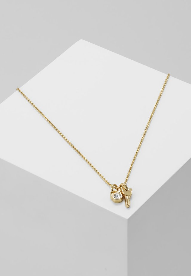 MINI CHOUPETTE LOCK KEY CHARM  - Necklace - gold-coloured