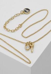 KARL LAGERFELD - MINI CHOUPETTE LOCK KEY CHARM  - Náhrdelník - gold-coloured - 5