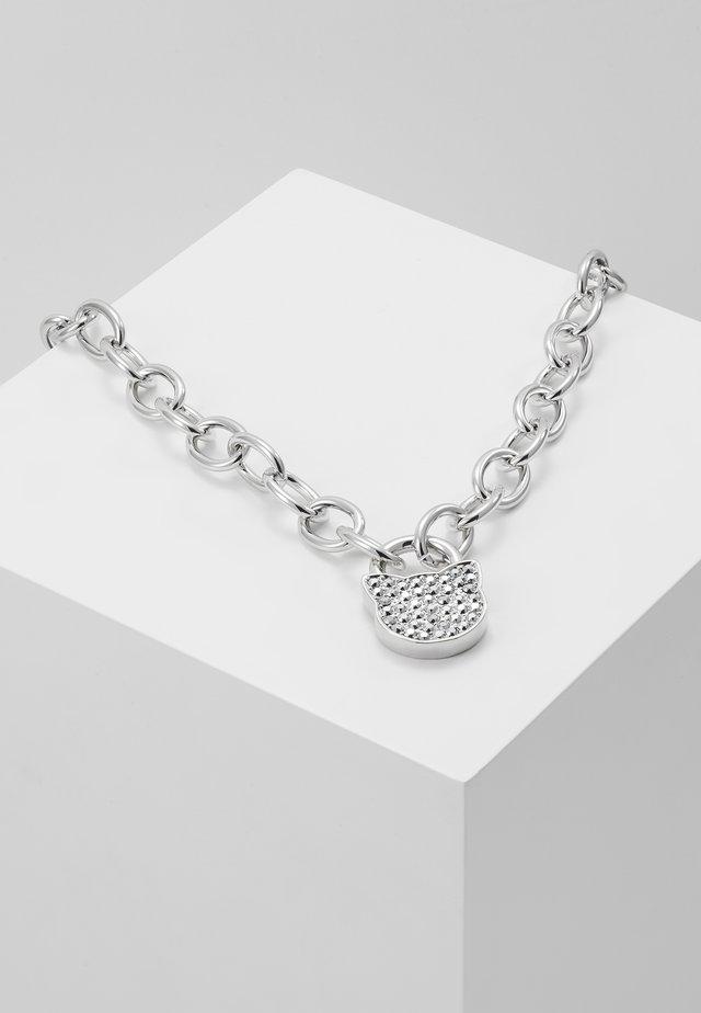 LARGE CHOUPETTE LOCKET  - Necklace - silver-coloured