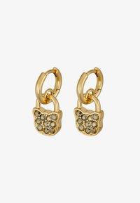 KARL LAGERFELD - SMALL CHOUPETTE LOCK HOOP ER - Náušnice - gold-coloured - 4