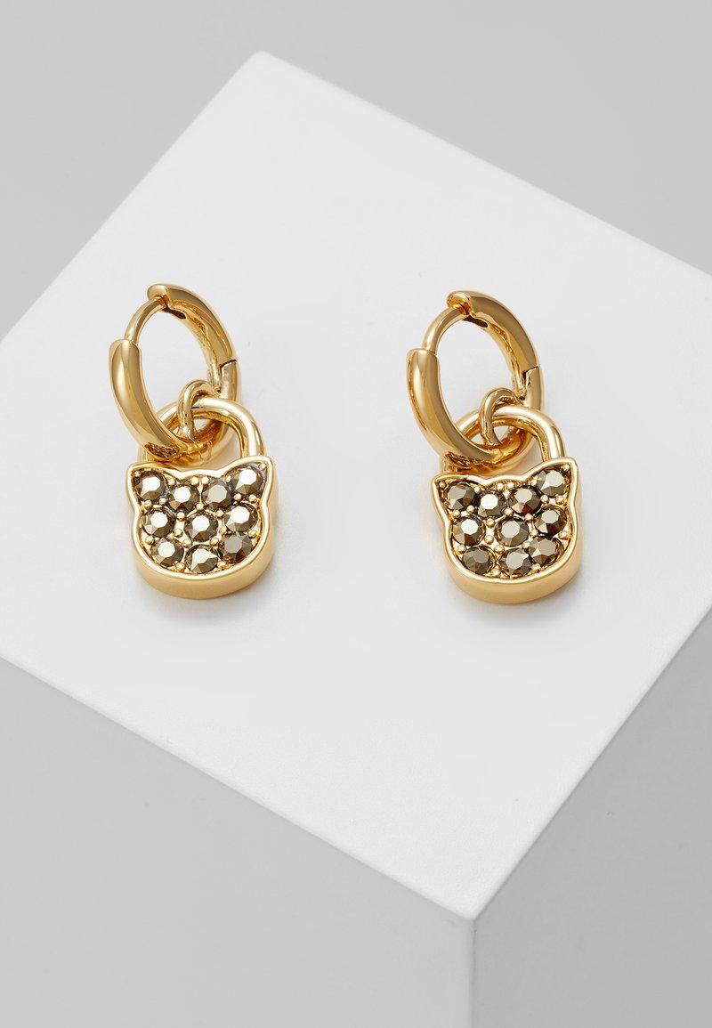 KARL LAGERFELD - SMALL CHOUPETTE LOCK HOOP ER - Earrings - gold-coloured