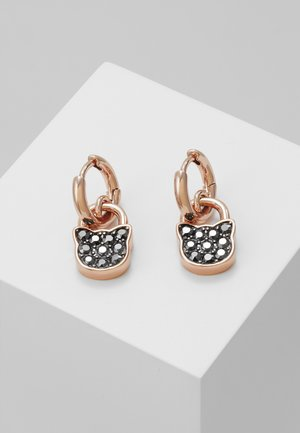 SMALL CHOUPETTE LOCK HOOP  - Earrings - rose gold-coloured/gun metal