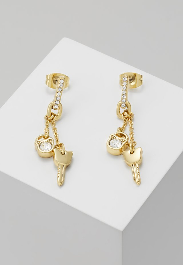 LOCK KEY CHOUPETTE LINEAR POST  - Ohrringe - gold-coloured
