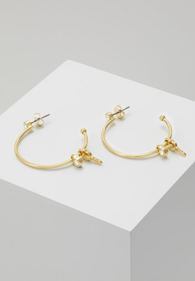 LOCK KEY CHOUPETTE HOOP  - Earrings - gold-coloured