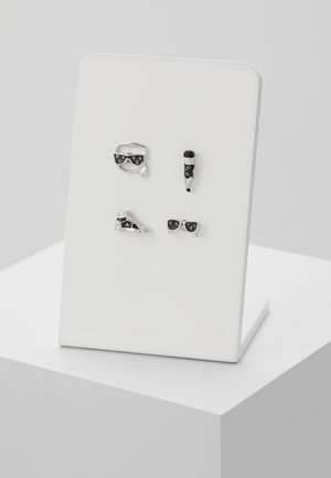 MINI MULTI CHARMS STUD - Kolczyki - silver-coloured