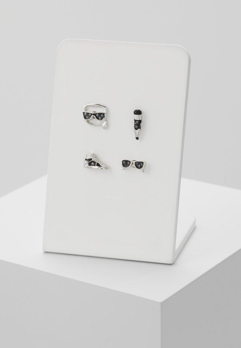 KARL LAGERFELD - MINI MULTI CHARMS STUD - Earrings - silver-coloured