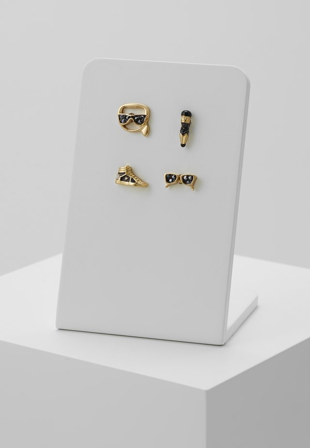 MINI MULTI CHARMS STUD - Kolczyki - gold-coloured
