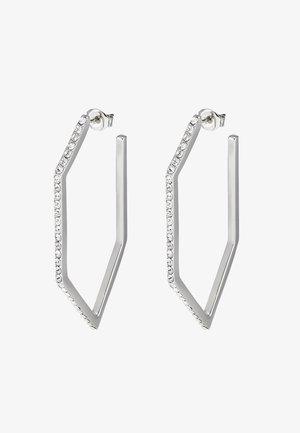 ANGULAR HOOP  - Orecchini - silver-coloured