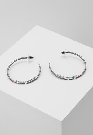 ROUND HOOP - Earrings - gun metal