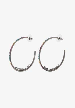 ROUND HOOP - Earrings - gun metal