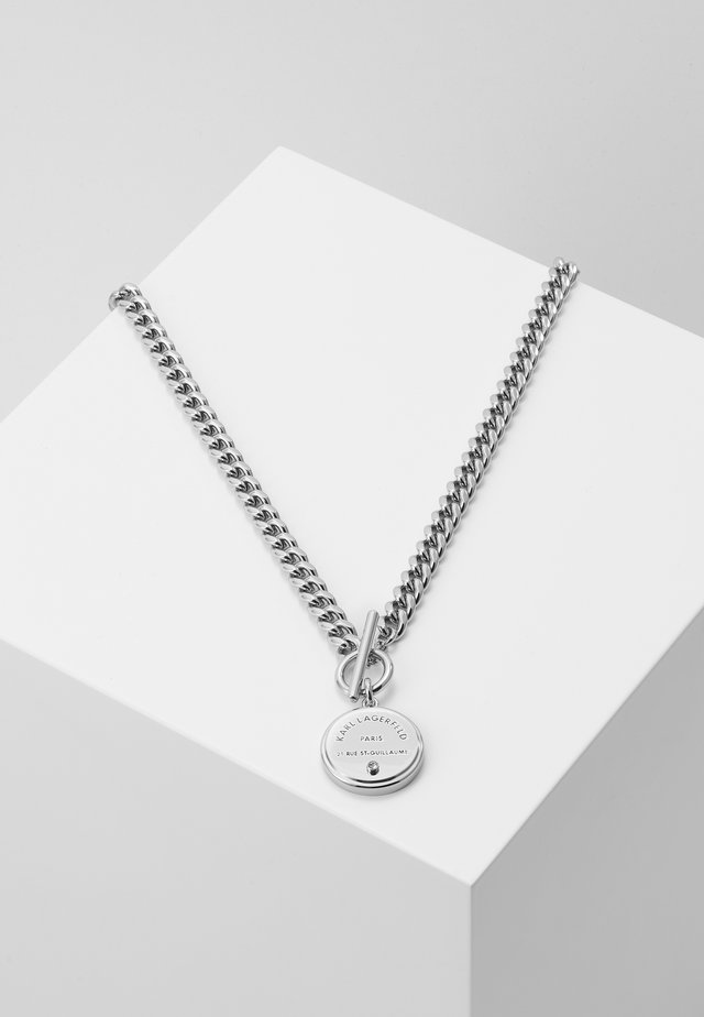 RUE ST. GUILLAUME CHAIN MEDALLION - Necklace - silver-coloured