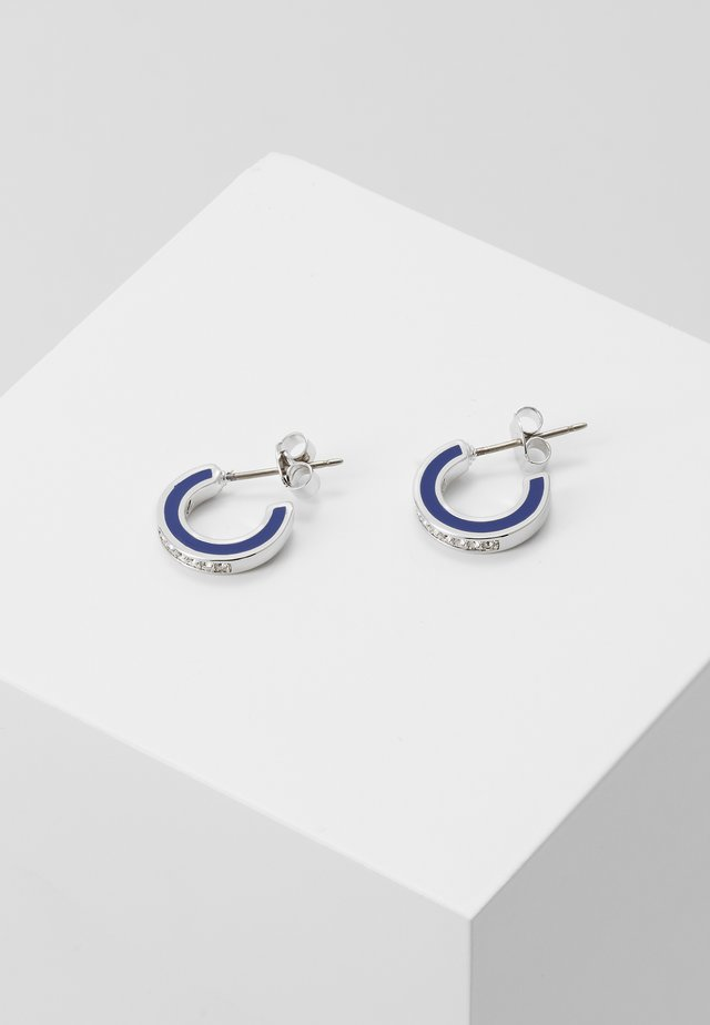 ENAMEL HOOP  - Earrings - silver-coloured