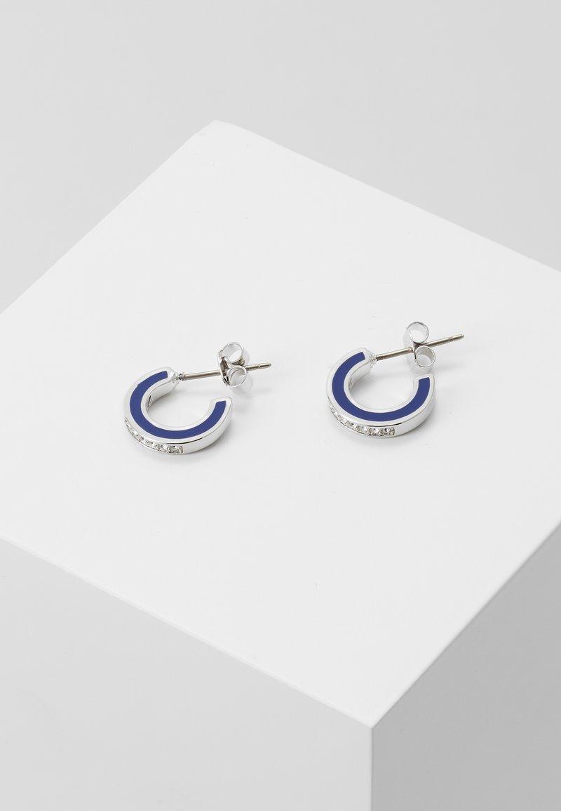 KARL LAGERFELD - ENAMEL HOOP  - Boucles d'oreilles - silver-coloured