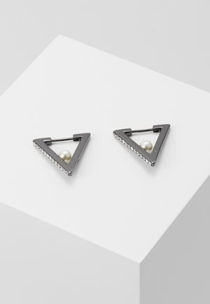 GEOMETRIC HUGGIE  - Earrings - black