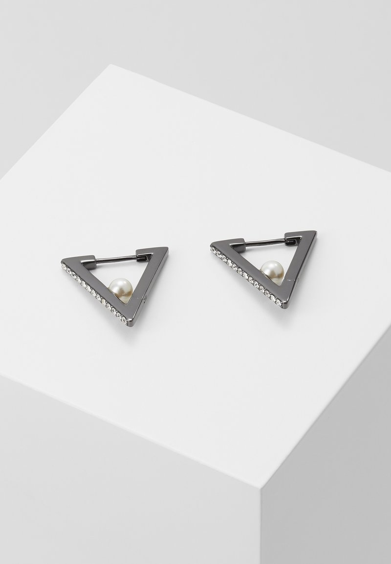 KARL LAGERFELD - GEOMETRIC HUGGIE  - Earrings - black