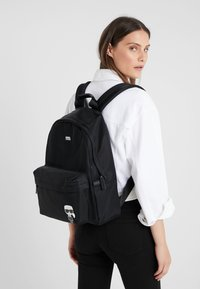 KARL LAGERFELD - IKONIK NYLON BACKPACK - Plecak - black - 1