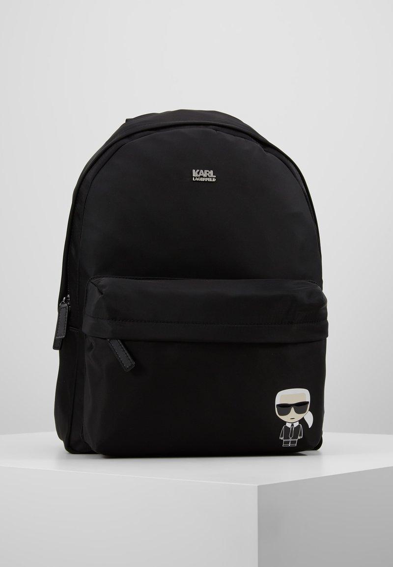 KARL LAGERFELD - IKONIK NYLON BACKPACK - Plecak - black