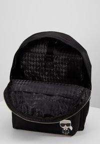 KARL LAGERFELD - IKONIK NYLON BACKPACK - Plecak - black - 4