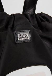 KARL LAGERFELD - IKONIK FLAT BACKPACK - Tagesrucksack - black - 6