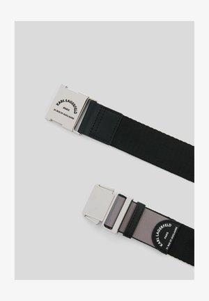 RUE ST GUILLAUME WEBBING - Belt - black/gunmetal